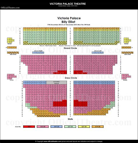 vic house seating plan palace theatre seat map and prices for