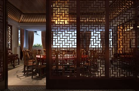 china dining room design night rendering download 3d house architecture wood windows chinese restaurant design