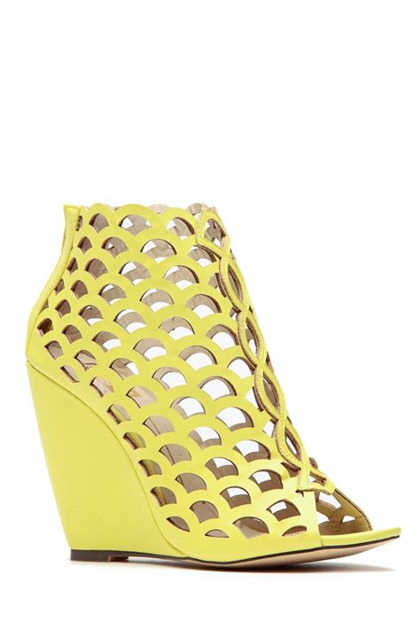 Wedges Laser Ls06 24 lime laser cut peep toe single sole wedges cicihot wedges shoes store wedge shoes wedge boots