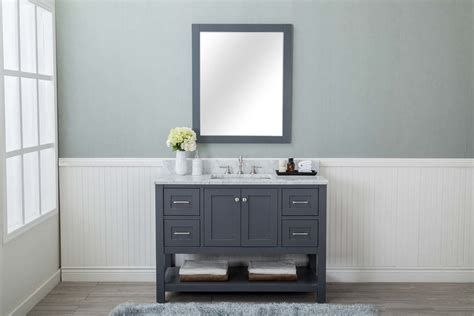 4 bathroom vanity grey shaker 48 quot bathroom vanity 4 drawers 1 sink open