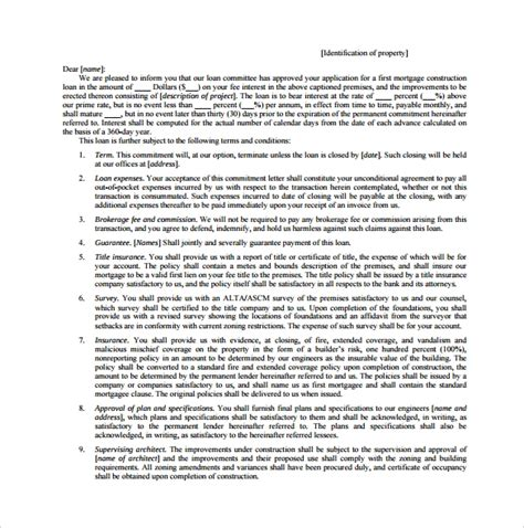 Commitment Letter Gdufa Ii luxury mortgage commitment letter cover letter exles