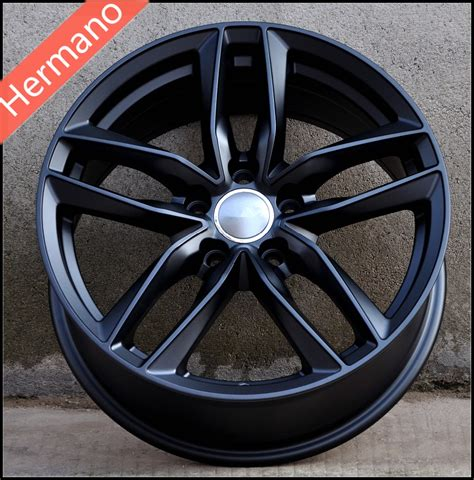 matt rims 18x8 inch matt black car wheels rims pcd 5x112 offset