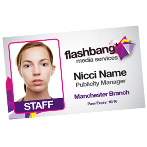 Staff Card Template by Staff Id Cards Id Badges Photo Id Cards