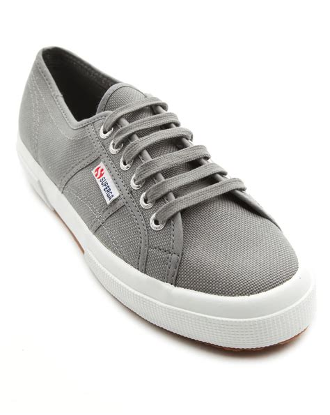 superga shoes for superga cotu grey sneakers in gray for grey lyst