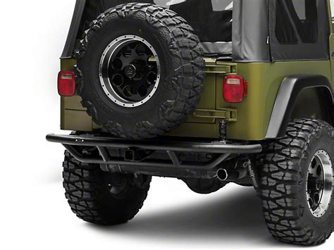 rugged ridge rrc rugged ridge wrangler rrc rear bumper w tire carrier provision textured black 11503 22 87 06