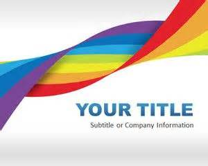 Rainbow Powerpoint Template by Free Rainbow Dna Powerpoint Template Free Powerpoint