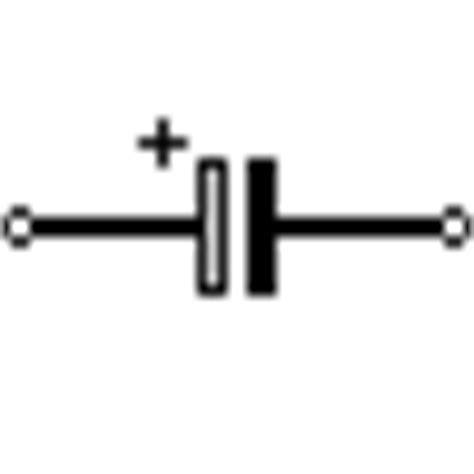 capacitor polarized symbol capacitor symbols schematic symbols