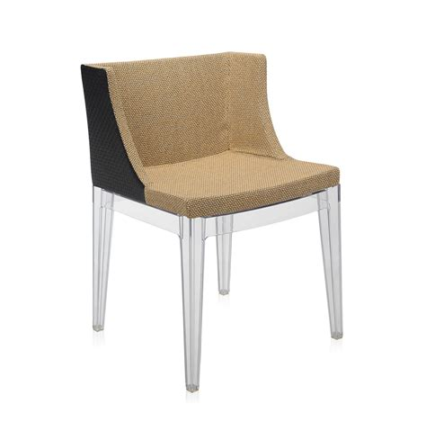 fauteuil mademoiselle kartell kartell fauteuil mademoiselle kravitz tessuto rafia structure transparente polycarbonate