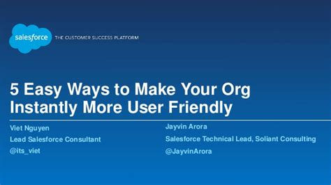 5 easy ways to make your org instantly more user friendly