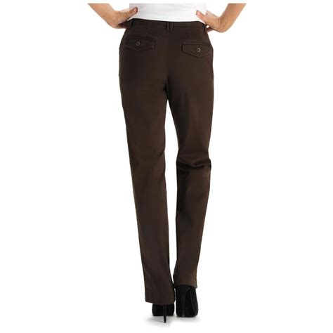 lee comfort fit lee 174 women s 30 quot comfort fit carden straight leg pants