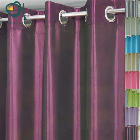 promotion color promotion solid color taffeta hole finished curtains
