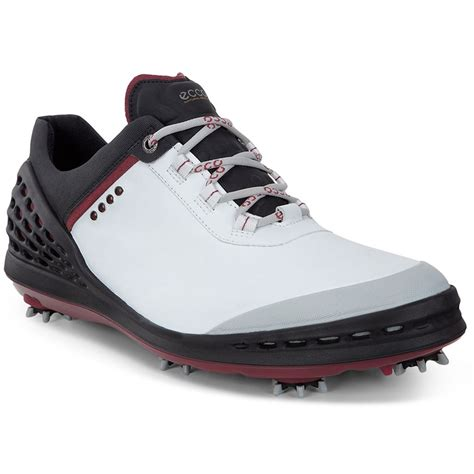 golf boots mens ecco mens cage spikes waterproof hydromax leather golf