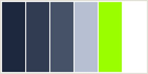 colors that go with lime green colorcombo221 with hex colors 1c263c 313c53 455268