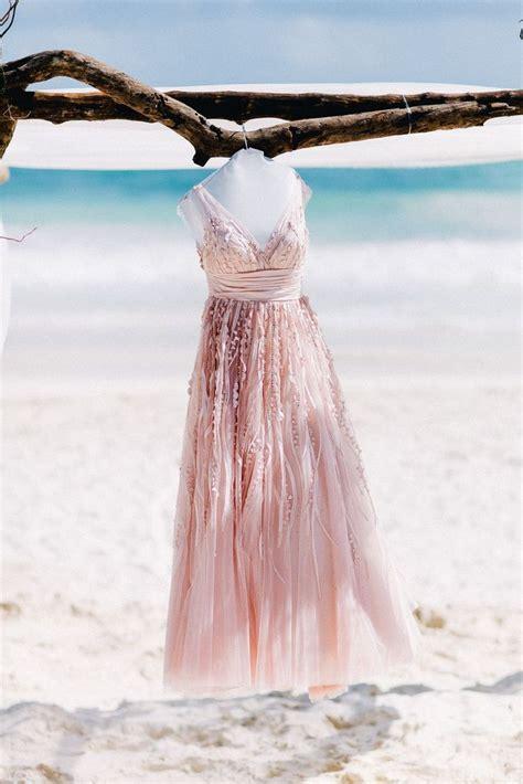 barefoot destination wedding  tulum wedding dresses