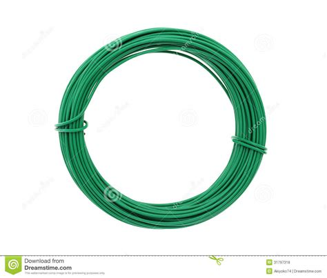 wire covered with green plastic royalty free stock photos