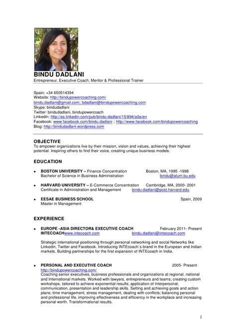 Sample Of Job Cover Letter Resume by Bindu Dadlani Cv English