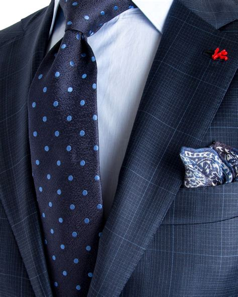blue pattern suit image of isaia blue check with aqua windowpane suit my