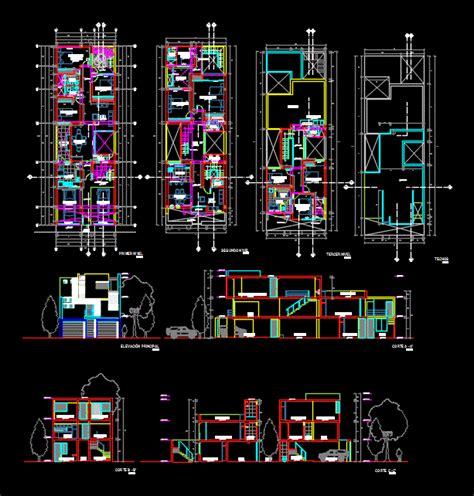 single family house  dwg plan  autocad designs cad