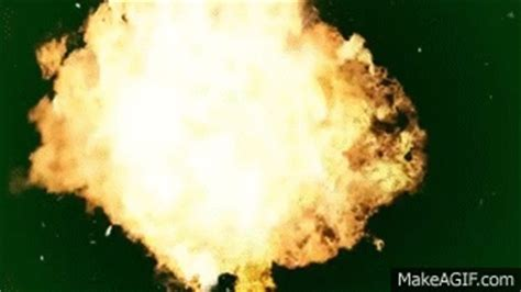 youtube layout gif big fire explosion black and green background green