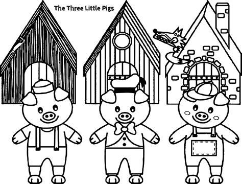 printable coloring pages three little pigs three little pigs and the big bad wolf children story