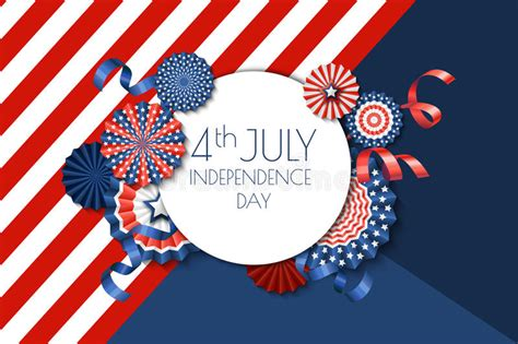 4th of july greeting card templates 4th of july usa independence day banner template color