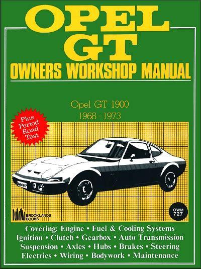 1968 1973 Opel Gt 1900 Repair Amp Service Manual