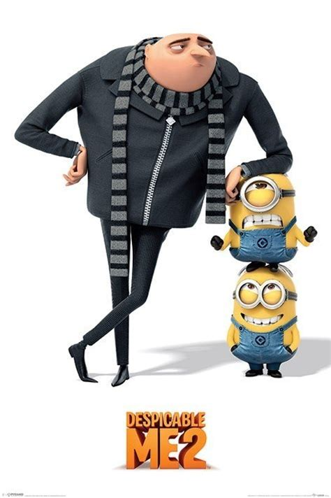 imagenes de minions y gru despicable me 2 gru and minions poster sold at europosters