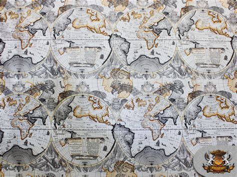 world map upholstery fabric world map flannel back upholstery fabric 52 quot wide sold by