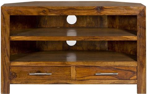 wooden corner tv cabinet buy cuban mango wood corner tv cabinet cfs uk