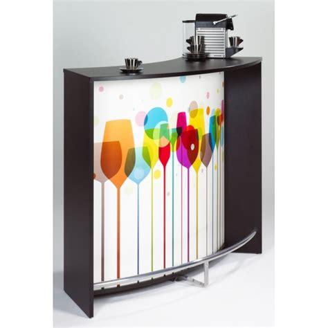 meuble bar comptoir de cuisine accueil noir simmob