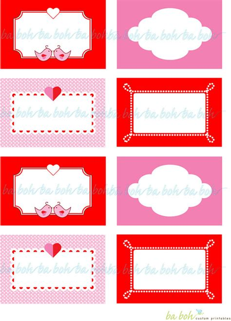 8 best images of printable blank gift tags valentine s