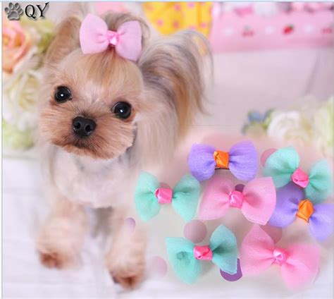 puppy bows qy pet products grooming bows ribbon wholesale hair accessories pet hair tie
