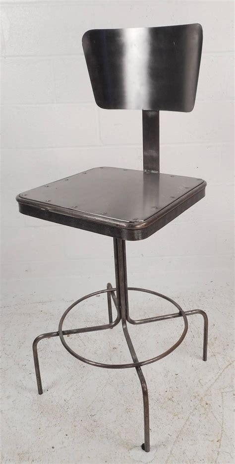 old metal bar stools vintage industrial metal bar stool for sale at 1stdibs
