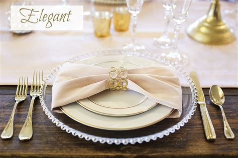 fancy place setting wedding place settings and table design ideas encore