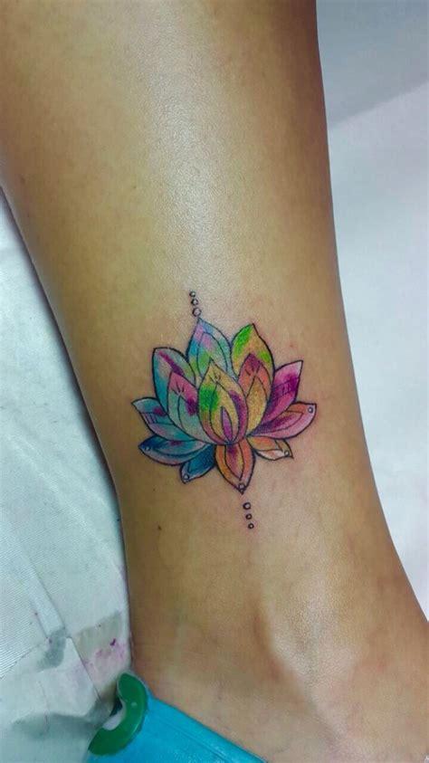 tattoo pinterest flower colored lotus flower tattoo aquarela tecnique tattoos