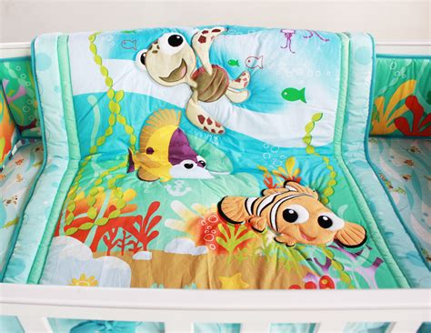Underwater Crib Bedding 8 Baby Bedding Set Underwater World Nursery Quilt Bumper Sheet Crib Skirt Ebay