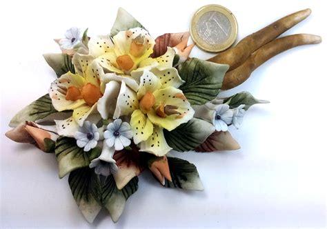 fiori capodimonte bomboniere fiori matrimonio ceramica orchidee