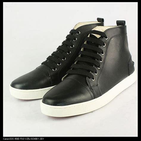 black sneakers white sole ems free shipping high top sheepskin fashion sneakers