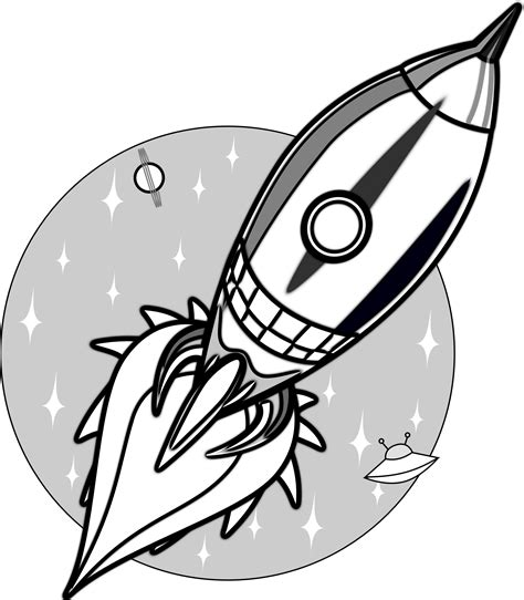 cartoon rocket tattoo space rocket clip art outline pics about space 2 image
