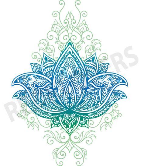 bali tattoo mandala svg dxf lotus flower bali mandala boho yoga henna art