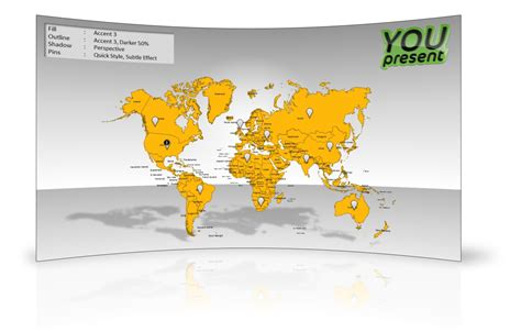 World Map Template For Powerpoint Youpresent Microsoft Powerpoint Templates World Map