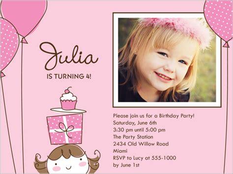 little girl printable birthday invitations girls photo birthday invitation girls print birthday