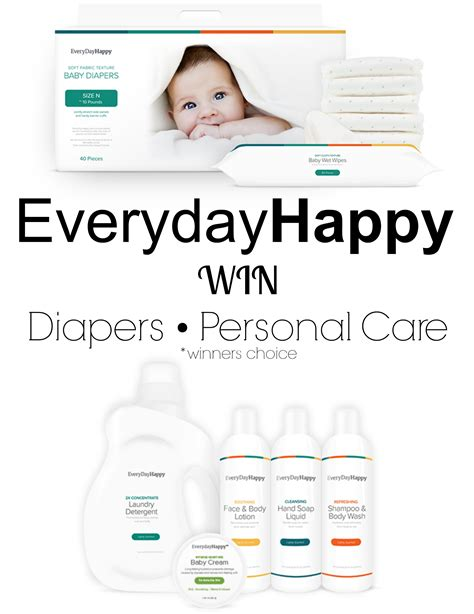 Happy Giveaway - everyday happy natural diapers and baby products giveaway eclectic momsense