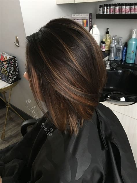 putting dark brown on top of hair the in the middle red and lower hair dark brown caramel highlights dark brown hair lkhairstudios my