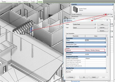 revit wall pattern not showing colour pattern of curtain wall not changing autodesk