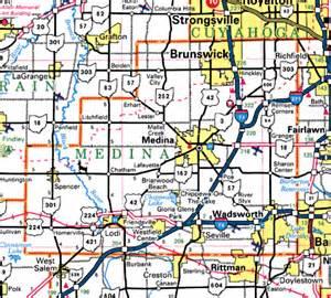 Medina Ohio Map by Forgotten Ohio Medina County