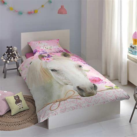 parure de lit 1 personne imprim 233 e cheval linge de lit