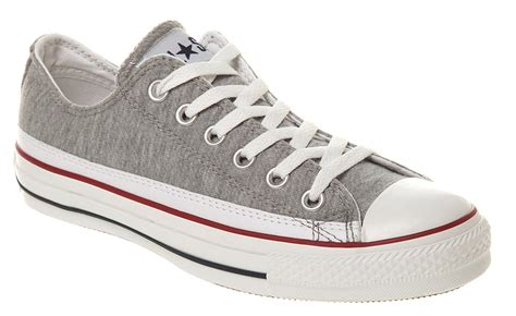 Converse Grey White converse all ox low grey marl white trainers shoes ebay