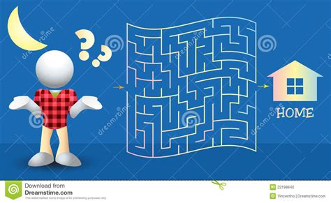 Help Find Help The Boy Find The Way Home Maze Illustration Stock Photo Image 22198640
