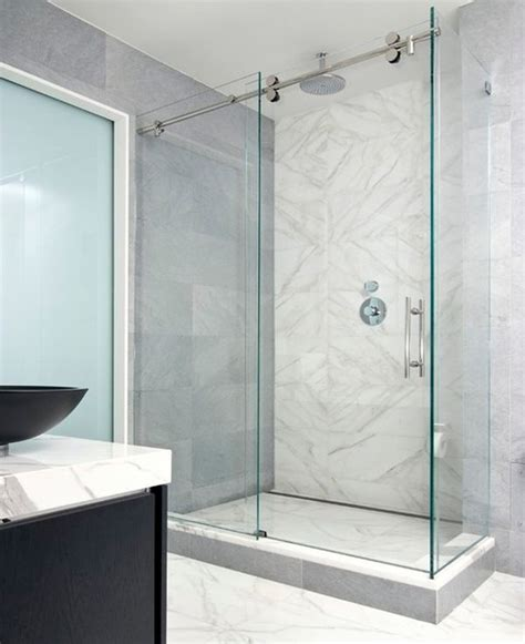 Bathroom Glass Sliding Door Sliding Door Shower Enclosures For The Contemporary Bathroom